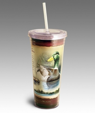 Mallard 24 oz. Double-Wall  Insulated Acrylic Tumbler