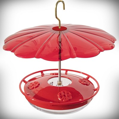 HummZinger HighView 12oz Hummingbird Feeder with HummBella Red Weather Dome