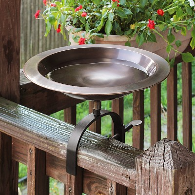 Achla Classic II Birdbath with Over Rail Bracket