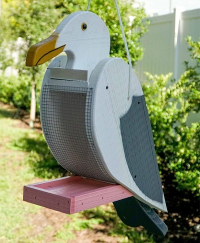 Amish Hand-Made Shaped Bird Feeder Seagull