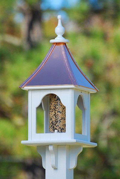 "10"" Square Gazebo Bird Feeder Bright Copper"