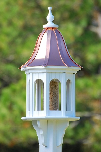 "14"" Gazebo Bird Feeder Bright Copper Bell"