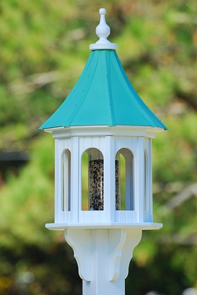 "Fancy Home Products 14"" Gazebo Bird Feeder Patina Copper Slope"