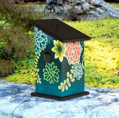 Boho Succulents All-Weather Bird House