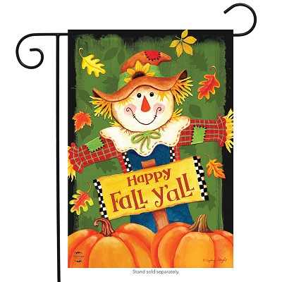 Briarwood Lane Fall Y'all Scarecrow Garden Flag