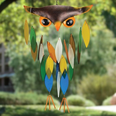 Spiky Owl Wind Chime