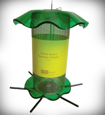 Forever Nyjer Feeder 3 Quart Green
