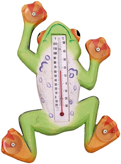 Climbing Tree Frog Window Thermometer Large