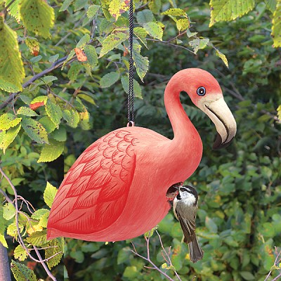 Flamingo Birdhouse