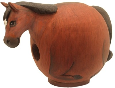 Brown Horse Gord-O Birdhouse
