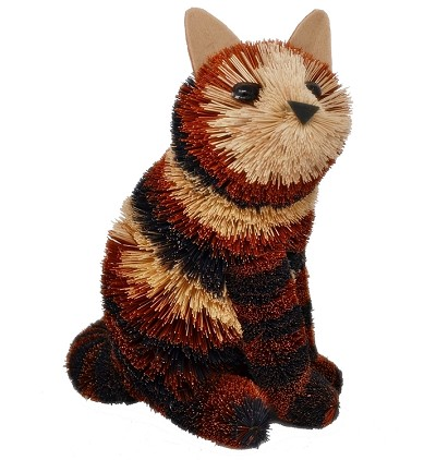 Brushart Calico Cat Sitting 9""