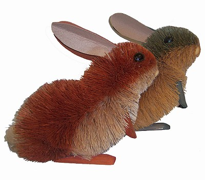 "Brushart Bristle Brush Rabbit 10"" Assorted Colors"