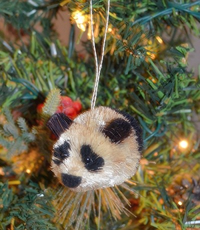 Brushart Panda Bear Ornament