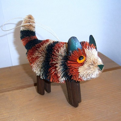 Brushart Calico Cat Standing Ornament