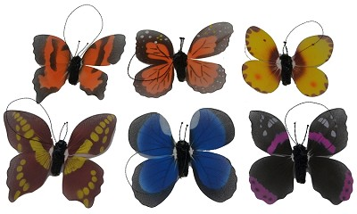Brushart Butterfly Assortment Ornament Set of 2