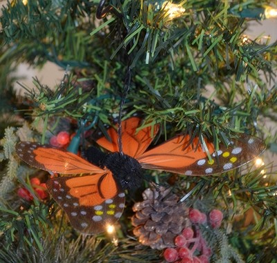 Brushart Monarch Butterfly Ornament