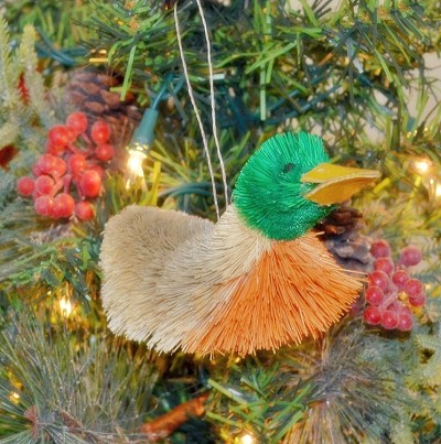Brushart Bird Ornament Mallard