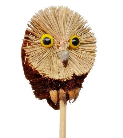 Brushart Owl on a Stick