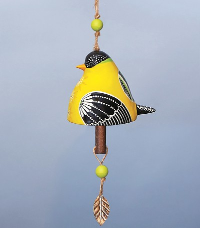 Bird Song Ceramic Bell Goldfinch