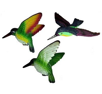 Hummingbird Fly Through Window Magnet Collection Set of 3
