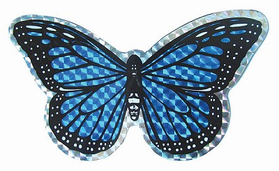 Blue Butterfly Screen Door Saver Magnet