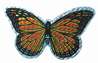 Orange Butterfly Screen Door Saver Magnet