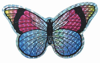 Multi-Colored Butterfly Screen Door Saver Magnet