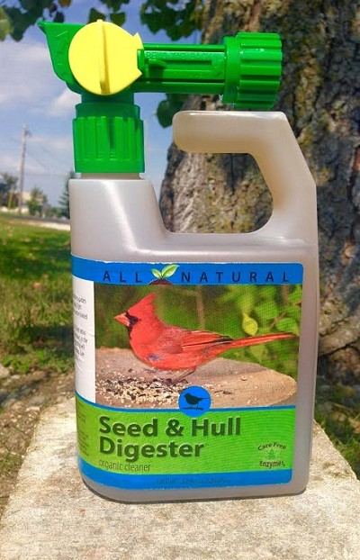 CareFree Seed and Hull Digester 32 oz. w/Spray Bottle