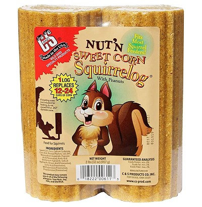 Nut-N-Sweet Corn Squirrel Log 16 oz. 24 Logs/Pack