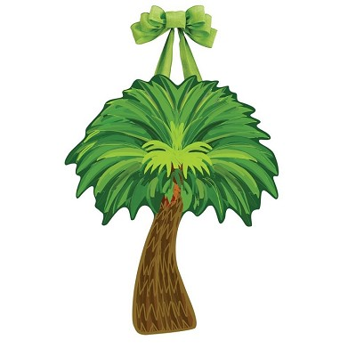 Tropical Palm Tree Door Decor