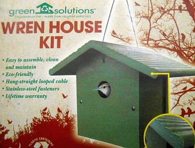 Green Solutions Recycled Plastic Wren House Kit