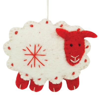Wild Woolies Snowflake Sheep White Ornament