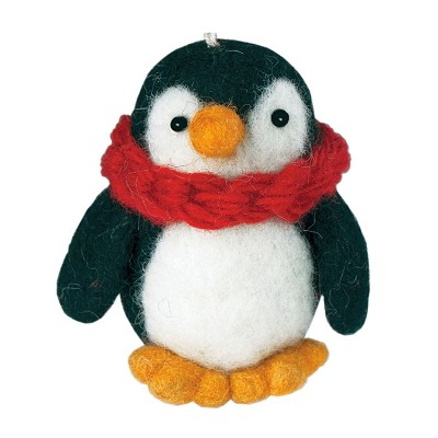Wild Woolies Pokey Penguin Ornament