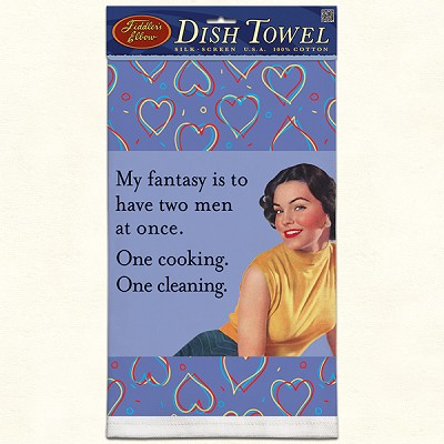 Fiddler's Elbow My Fantasy Retro Dish Towel