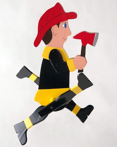 Classic Whirligig Character Fireman