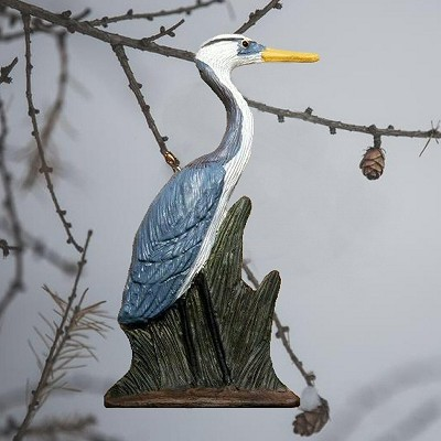 Heron and Grass Ornament