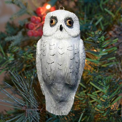 Snow Owl Ornament