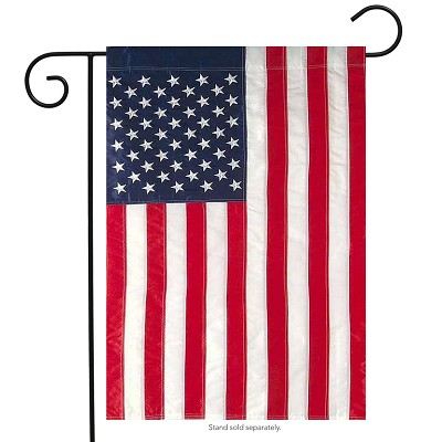 Briarwood Lane Embroidered American Flag Garden Flag