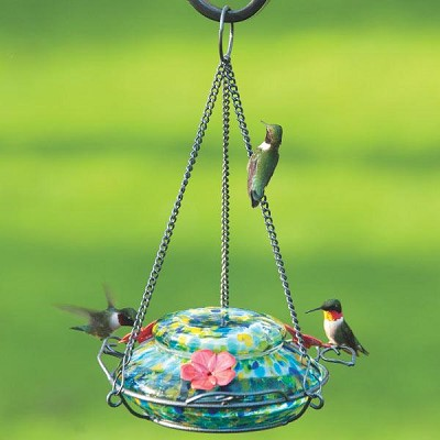 Garden Top Fill Solar-Powered LED Hummingbird Feeder