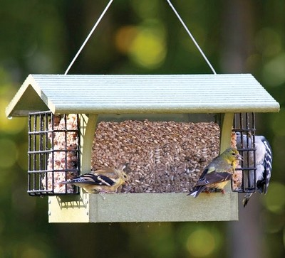 Green Solutions Recycled Plastic 3 Qt. Hopper Feeder w/Suet Cages