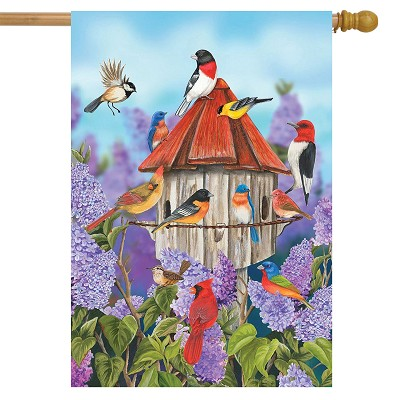 Briarwood Lane Birds and Lilacs House Flag