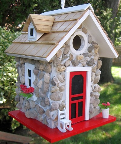Home Bazaar Hatchling Series Fieldstone Guest Cottage Birdhouse