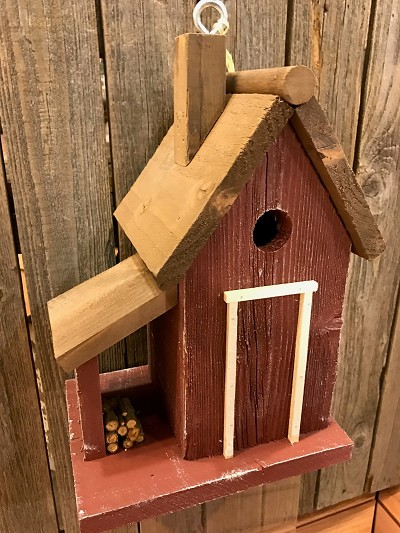 Bird In Hand Warwick Woodcutters Cottage Birdhouse Red