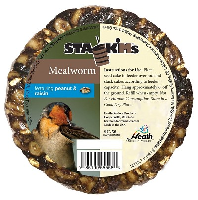 Stack'Ms Seed Cake Mealworm with Peanut & Raisin 6/Pack