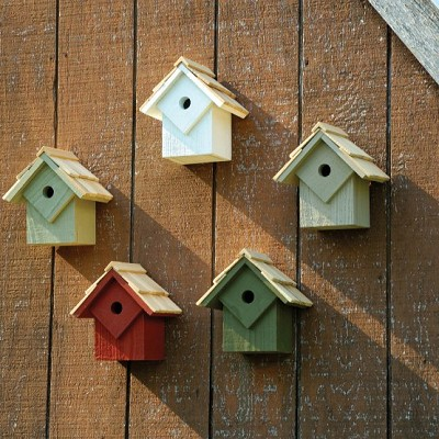 Summer Home Pack of 5 Birdhouses Traditional