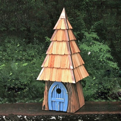 Lord of the Wing Birdhouse Blue