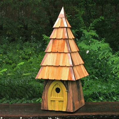 Lord of the Wing Birdhouse Yellow