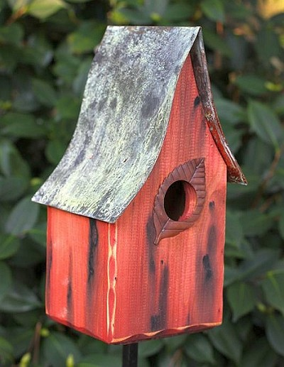 Heartwood Shady Shed Birdhouse Redwood