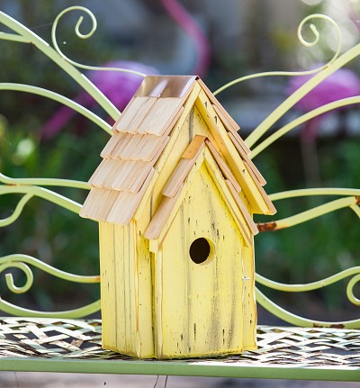 Bluebird Brights Birdhouse Yellow