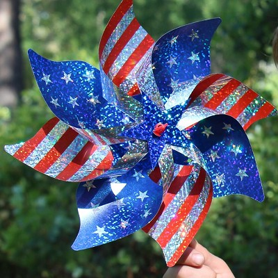 Stars and Stripes Pinwheel Set of 8